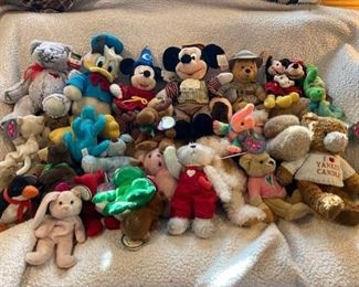 Stuffed Animal Lot Along with Disney Characters