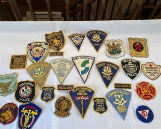 Vintage Local Police and Fire Patch Collection I