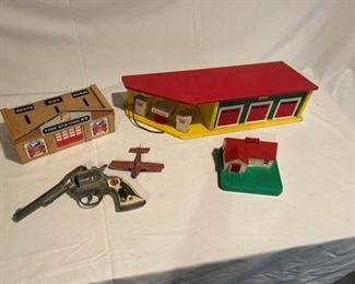 Vintage Toy Lot with Hubley Cap Gun