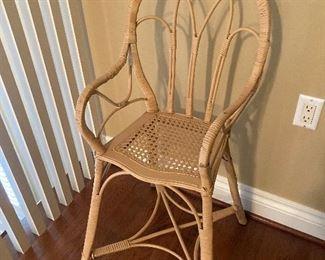 Vintage wicker chair