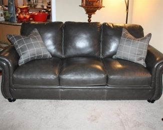 BROWN LEATHER SOFA (NOT GRAY)