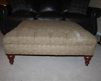 LARGE UPHOLSTERED OTTOMAN