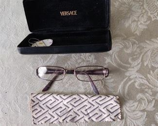 VERSACE GLASSES & CASE $65.00