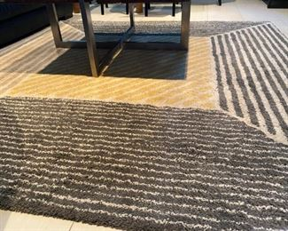 """Low pile rug. $60.  Approx. 79"""" X 79"""""""