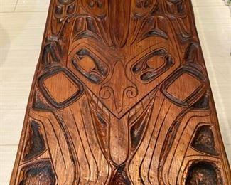 West Coast native wood carving. $200.
