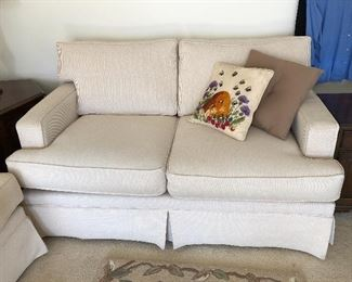 La-Z-Boy loveseat and adorable beehive pillow!