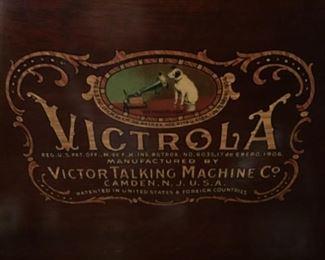 Label on inside of victrola lid
