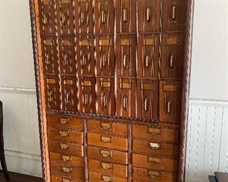 1895 Antique Globe 39 drawer document holder, with roll front.  Pristine condition.