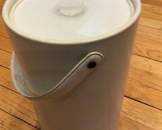 MORGAN Midcentury Bucket Brigade ice bucket. $20