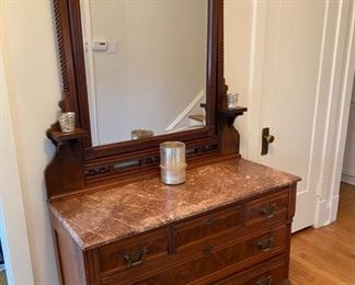 Eastlake marble top dresser. Appraisal for $5000. Sell for $1900