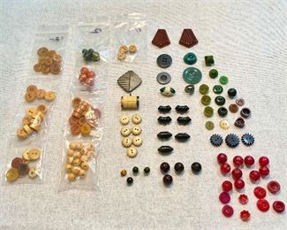 Bakelite collection of buttons. $40