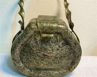 """1950's"" Lucite purse from Kansas City, Mo department store. Handle needs repaired. See additional photo. $35"