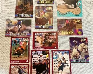 """1990's"" Bullriders action photo cards by Rodeo America and High Gear, PRCA Ty Murray, Cody Custer, Tuff Hedeman, etc.  (Lot of 13) $10"
