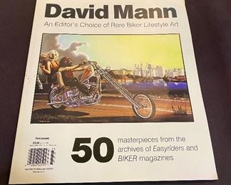 David Mann's Motorcycle Art Book, Easy Rider Artwork 50+, The Editor's Choice,  Summer 2017, Number 4. $35