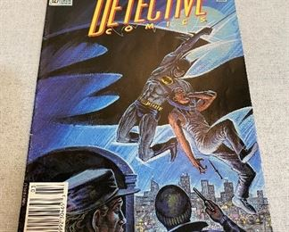 "DC Anniversary edition of ""Batman's"" 600th appearance in Detective Comics, March 1991 #627. $6"