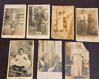 Real Photo Post Cards (RPPC) - African American Blacks, (Lot of 7) $30