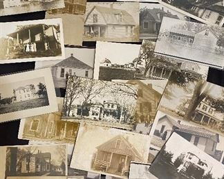 Real Photo Post Cards (RPPC) - Lot of 19 photo's of homes, $30
