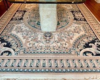 """Persian wool rug made in Pakistan, 9' by 12'9"""""""