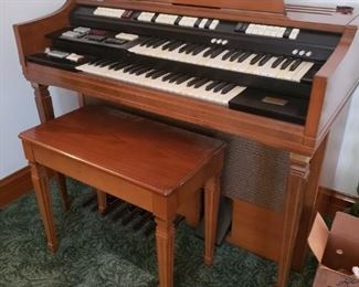 "Vintage Wurlitzer organ with bench Model #4300 Purchased new $1800 in 1967 Incredible condition    46""W x 24""D x 37.5H    $595"