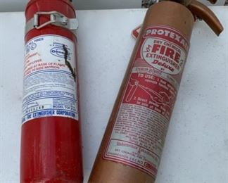 CLEARANCE!  $4.00 NOW, WAS $12.00.............Two Fire Extinguishers (B116)