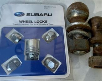 CLEARANCE !  $5.00 NOW, WAS $20.00..............Subaru Wheel Locks and Hitches (B070)