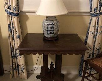 Victorian Antique Eastlake side pedestal table