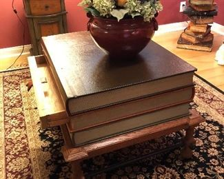 Vintage Stacked Book Table