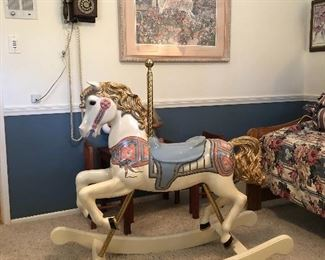 Beautiful Vintage Rocking Horse
