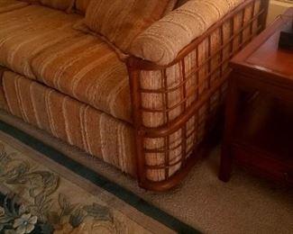 Rattan wrap around sofa