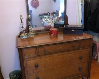 Antique dresser/desk with mirror......