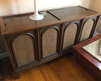Vintage Magnavox record player console....