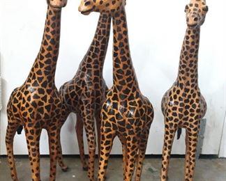 Tall Wooden Giraffes.