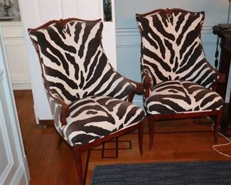 Zebra Print Chairs, Occasional Chairs, Chairs
