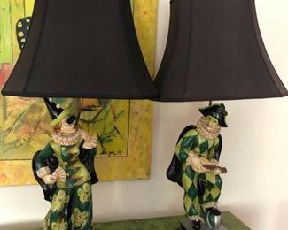 Lamps Harlequin stunning,unique $450