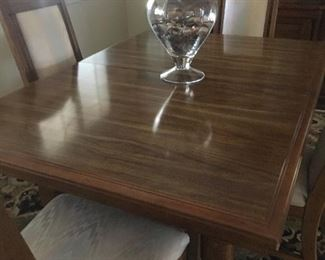 formal dining table with leaf /chairs