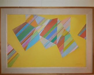 Mid Century Style Cubic Art