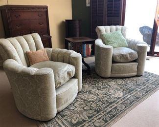 Pair club chairs