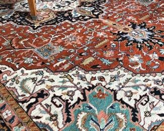 Beautiful large area rug 18' by 15'
