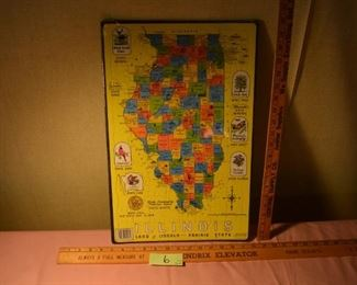 """06 - Illinois puzzle  map 20"""" was $16, now $12"""