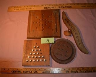 14 - Group of games $10 - The 3 marble boards are Berea College - NOW $8