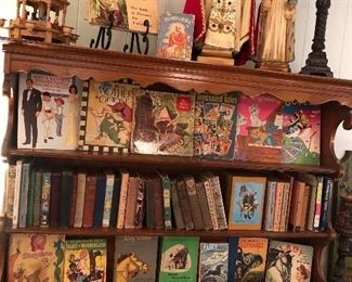 Antique and Vintage books plus vintage Christmas Decor