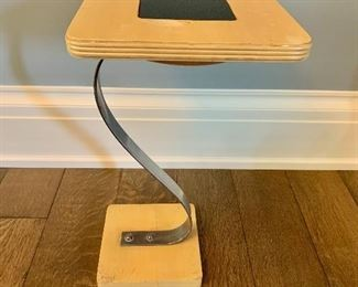 "$120; Vintage standing ashtray/side table; 20.5"" H x 11"" W x 11"" D, some wear (as is)"