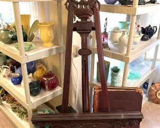 Beautiful early wooden easel