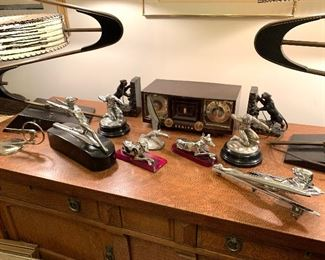 Pierce Arrow, Packard, Pontiac, Chrysler, and other assorted hood mascots ornaments