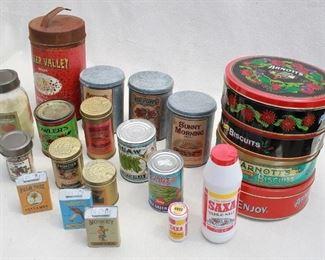 $60 - LOT canned goods w/ vintage labels [Bin 9A]
