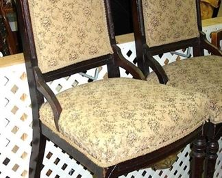 $50 each - Improved Victorian side chairs