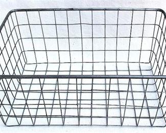 "$20 - Wire basket, heavy rim, no handles.  W: 20""   H: 8""   D: 14.5""  [Props]"