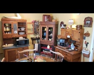 Antique possum belly Hoosier cabinet, antique flat front kitchen cabinet glass doors antique baking cabinet with glass doors