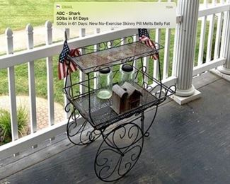 Iron tea cart