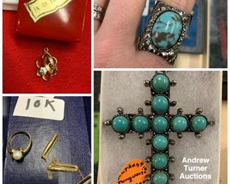 Turquoise, gold, jewelry